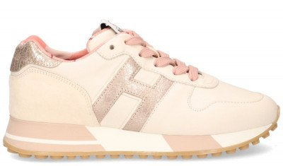 Hogan Hogan H383 Off-White/Roze Damessneakers