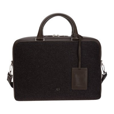 Dior briefcase attaché case laptop pc bag leather