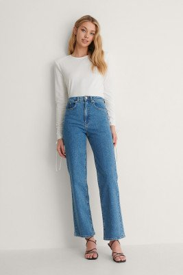 Oumayma x NA-KD Oumayma x NA-KD Organisch Jeans - Blue