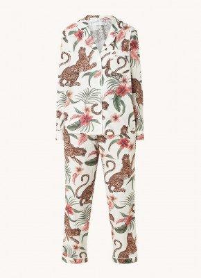 Desmond & Dempsey Desmond & Dempsey Pyjamaset van biologisch katoen