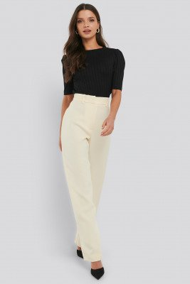 NA-KD Trend NA-KD Trend Front Pleat Suit Pants - Beige
