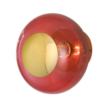 Ebb en Flow EBB & FLOW Horizon fitting goud/rood Ø 21 cm