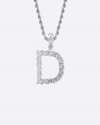 Drippy.Amsterdam NL LETTER PIECE. - WHITE GOLD - A