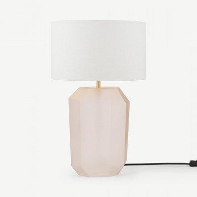 MADE.COM Aquari glazen tafellamp, roze