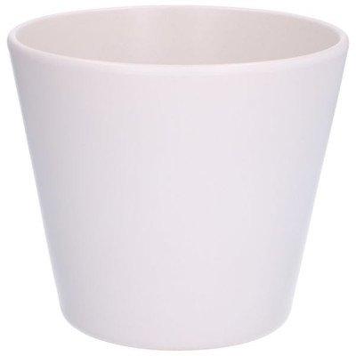 DilleenKamille Bloempot, aardewerk, mat wit,Ø 17,5 cm