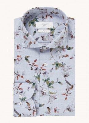 Profuomo Profuomo Slim fit overhemd met bloemenprint