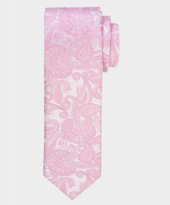 Michaelis Michaelis heren paisley satijnen zijden stropdas roze