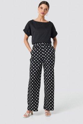 NA-KD NA-KD Dotted Wide Pants - Black