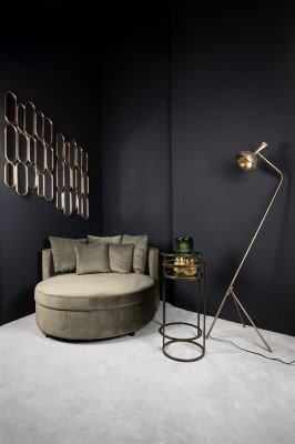 Firawonen.nl PTMD Dilara Gold ijzeren spiegel rechthoek met 15 spieg