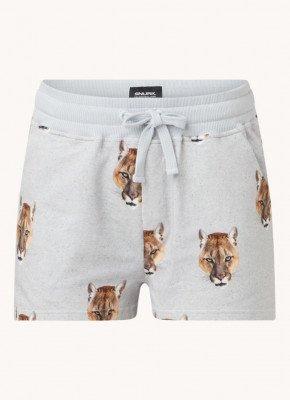 Snurk Snurk Puma pyjamashorts met dierenprint