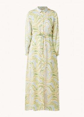 Fabienne Chapot Fabienne Chapot Frida blousejurk met strikceintuur en print