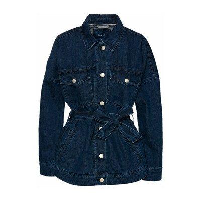 Gant Veste en jean oversize à ceinture