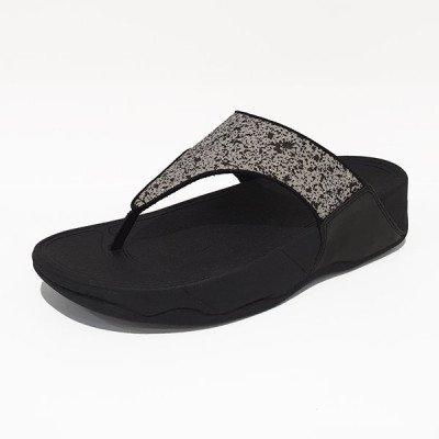FitFlop FitFlop Lulu Glitter Splash slippers zwart