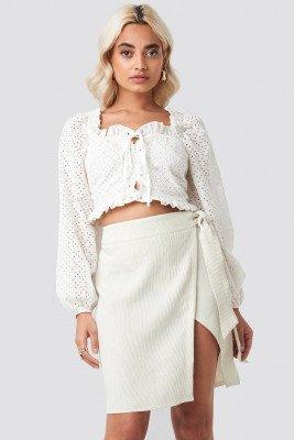 AFJ x NA-KD AFJ x NA-KD Belted Wrap Mini Skirt - Beige