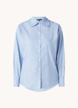 Maje Maje Cade blouse van biologisch katoen met ruches