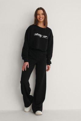 NA-KD NA-KD Organisch Sweatpants Met Tailleband - Black