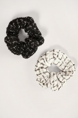 NA-KD Accessories NA-KD Accessories 2-pack Tweed Scrunchies - Multicolor