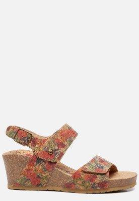 Panama Jack Panama Jack Vanessa Cork B1 sandalen met sleehak rood