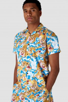 Kings of indigo Kings of Indigo - BALDER shirt short sleeve Male - White