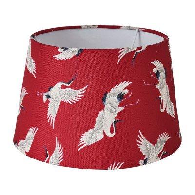 Xenos Lampenkap kraanvogel - rood - 18x23x14 cm