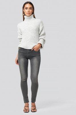 NA-KD NA-KD Skinny Mid Waist Jeans - Grey