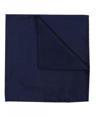 Profuomo Profuomo heren navy oxford zijden pochet