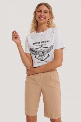 NA-KD NA-KD T-Shirt Met Adelaarprint - White