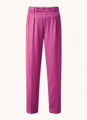 Scotch en Soda Scotch & Soda High waist loose fit pantalon met persplooi