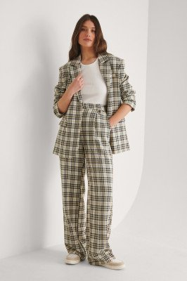 Louise Madsen x NA-KD Louise Madsen x NA-KD Rechte Pantalon - Multicolor
