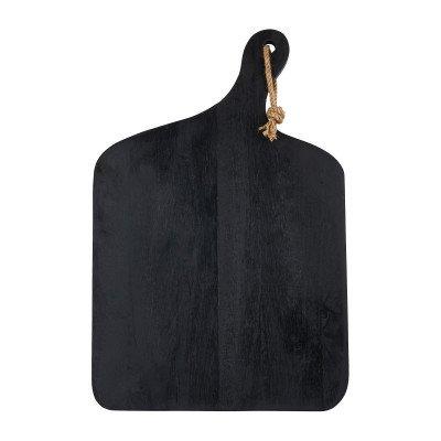 Xenos Serveerplateau - zwart - 57x38x2 cm