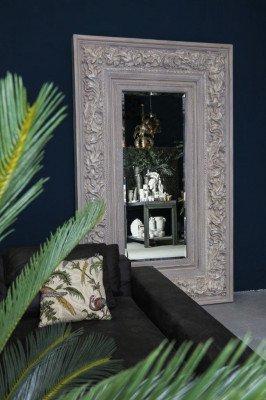 Firawonen.nl PTMD kyros wit rechthoekige antiek houten spiegel