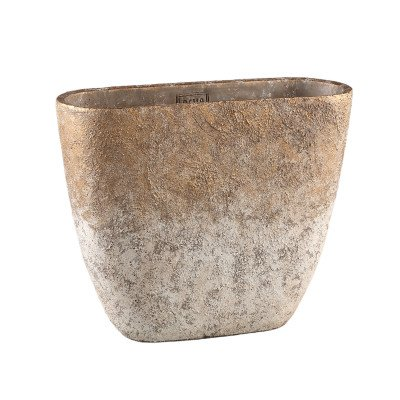 Firawonen.nl Ptmd jae goud cement ruige pot ovaal xl