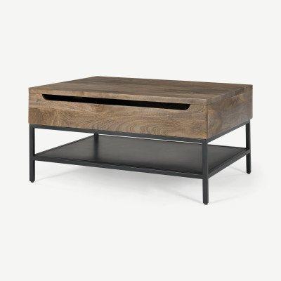 MADE.COM Lomond uitklapbare salontafel met opbergruimte
