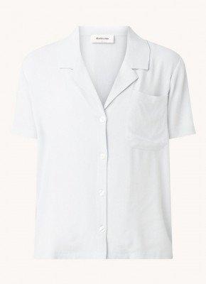 Modström Modström Ivar blouse van crêpe met borstzak