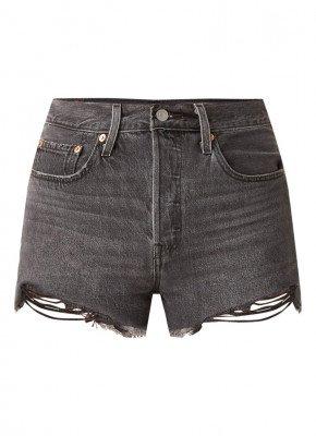 Levi's 501 high waist shorts van denim