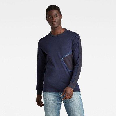 G-Star RAW Mesh Pocket Tweeter T-Shirt - Donkerblauw - Heren