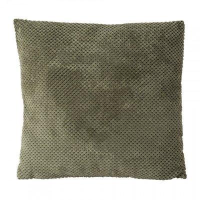 Xenos Kussen blokje - groen - 45x45 cm