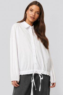 NA-KD Trend NA-KD Trend Shirt Met Ballonmouwen - White