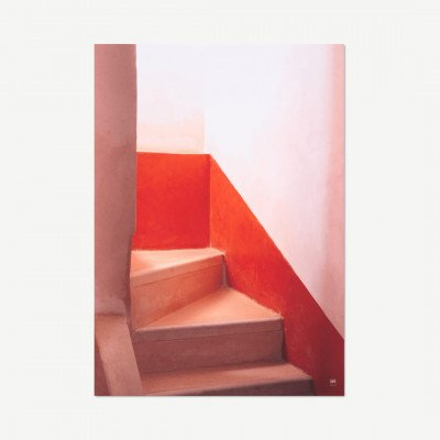 MADE.COM David & David Studio, Morrocan Stairway, print, door Laurence David, 70 x 100 cm