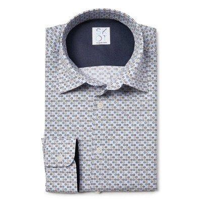 SKOT Fashion SKOT Fashion Duurzaam overhemd heren Square Fun - grijs