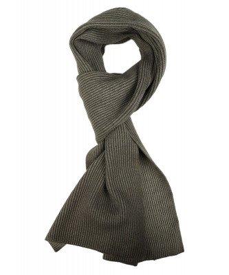 Profuomo Profuomo heren legergroen knitted sjaal