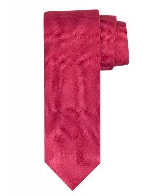 Profuomo Profuomo heren rode imperial oxford 7-fold zijden stropdas