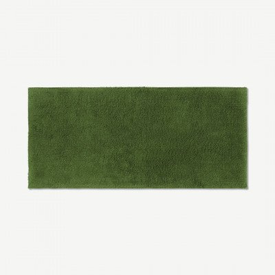 MADE.COM Aire badmat van 100% katoen, extra lang, 50 x 110 cm, mosgroen