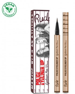 Rude Cosmetics Rude Cosmetics Police Eyeliner Pen Big House Brown Rude Cosmetics - RUDE COSMETICS Eyeliner