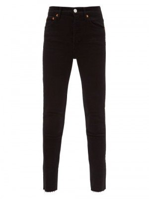Matchesfashion Re/Done - High-rise Cropped Jeans - Womens - Black