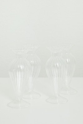 Sissy-Boy Glazen vaasje boro rib (6,5x16 cm)