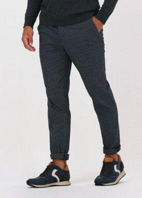 Scotch en Soda Grijze Scotch & Soda Pantalon Mott Super Slim-fit Chino Cont
