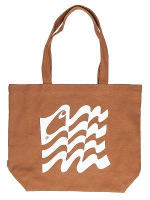 Carhartt WIP Carhartt WIP Wavy State Tote Bag bruin