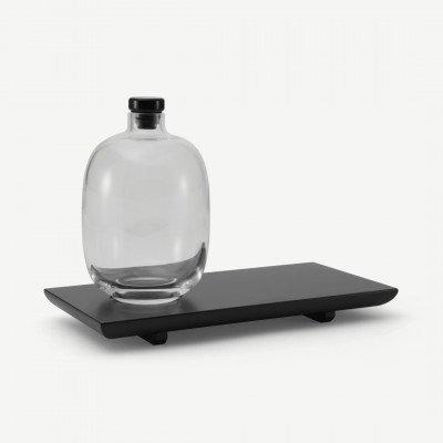 MADE.COM NUDE Glassware whiskyfles met houten dienblad