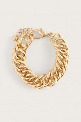 NA-KD Accessories NA-KD Accessories Messy Kettingarmband - Gold